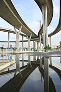 Beltway Prints - Reflection of the highway Print by Suwit Ritjaroon