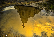 Puddle Digital Art Prints - Reflection of Worship Print by Dale Stillman