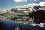 Reflection On Talbot Lake Print by Shirley Sirois