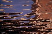 Reflections In River Photo Prints - Reflection Patterns In The Waves Print by Paul Damien