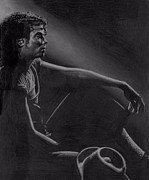 Mj Drawing Drawings Posters - Reflection Poster by Raoul Alburg