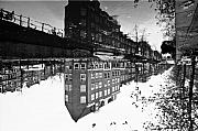 Canals Framed Prints - Reflection up-side-down Framed Print by John Battaglino