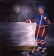 Hockey Paintings - Reflection by Yack Hockey Art