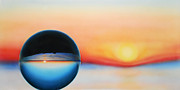 Sunset Posters Prints - Reflections 7 - The Sunset Print by Peter Polyak
