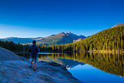 Rocky Mountain Prints - Reflections Print by Daniel Chen