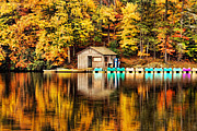 Boat House Prints - Reflections Print by Darren Fisher