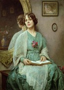 Deep In Thought Paintings - Reflections by Ethel Porter Bailey