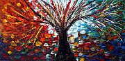 Fantasy Tree Art Paintings - REFLECTIONS from TOMORROW  by Luiza Vizoli