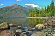 Montana Landscape Prints - Reflections Glacier National Park  Print by Michael Peychich