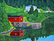 Peaceful Scene Paintings - Reflections H D R by Barbara Griffin