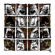 Anger Digital Art Metal Prints - Reflections in an Urban Jungle - raw series I Metal Print by Dan Daulby