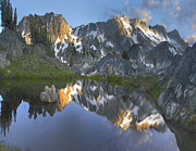 Mountain Art - Reflections In Wasco Lake Twenty Lakes by Tim Fitzharris