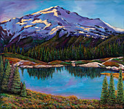 Mountains Paintings - Reflections by Johnathan Harris