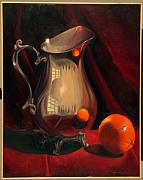 Silver Pitcher Framed Prints - Reflections Framed Print by Martha Zausmer paul