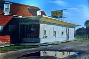 Featured Painting Posters - Reflections Of A Diner Poster by William  Brody