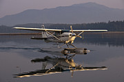 Seaplane Posters - Reflections of a Float Plane Poster by Darcy Michaelchuk