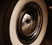 Antique Automobiles Photos - Reflections of a Past Time by Brian Mollenkopf