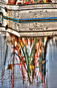 Fishing Boat Reflection Prints - Reflections of Darien Print by Greg and Chrystal Mimbs