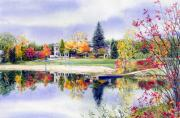 Autumn Prints Painting Posters - Reflections of Home Poster by Hanne Lore Koehler
