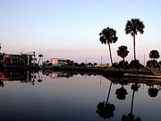 Reflections Of Keaton Beach Marina Print by Marilyn Holkham
