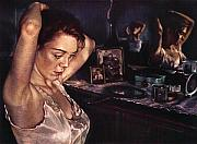 Portrait Of A Woman Posters - Reflections of Sasha Poster by Jean Hildebrant