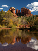 Red Rock Crossing Framed Prints - Reflections of Sedona Framed Print by Joshua House