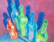 Oil Pastel Paintings - Reflections of Yesterday by Susan DeLain