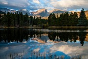 Reflections On A Lake Print by Anne Rodkin