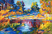 Lakeshore Paintings - Reflections on a Quiet Lake by David Lloyd Glover