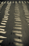 Crosswalks Prints - Reflections on empty street Print by Lars Hallstrom