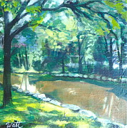Pathways Painting Originals - Reflections on the Avon by Tammy Watt