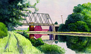 Arthur Barnes Art - Reflections on the Erie Canal by Arthur Barnes