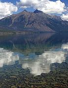 Lake Mcdonald Framed Prints - Reflections on the Lake Framed Print by Marty Koch