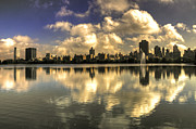 Central Park Skyline Prints - Reflections over East Side  Print by Rob Hawkins