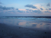 Panama City Beach Fl Prints - Reflections Print by Sandy Keeton