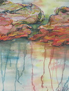 Drips Painting Originals - Reflections by Sandy Tracey
