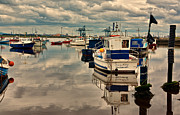 River Tees Prints - Reflections Print by Trevor Kersley