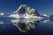 Mountainous Photos - Reflections with ice by Antarctica