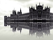Big Ben Posters - Reflective politics Poster by Sharon Lisa Clarke