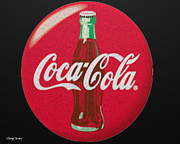 Coca-cola Sign Prints - Refreshing Print by Cheryl Young