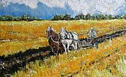 Farm Team Paintings - Refreshing the Soil by Debora Cardaci