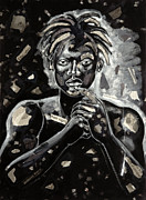 African-american Painting Metal Prints - Refugee Evacuee Metal Print by Larry Poncho Brown