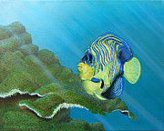 Scuba Paintings - Regal Angel by Barbara Struber