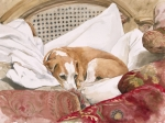 Greyhound Dog Posters - Regal Beagle Poster by Debra Jones