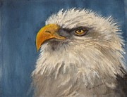 Yellow Beak Paintings - Regal Eagle by Eldora  Larson