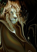 Digital Paintings - Regal Lion by Doris Wood