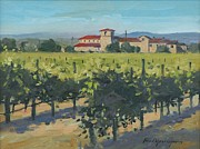 Wineries Paintings - Regal Vineyard by Paul Youngman