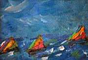 Sailboats Mixed Media - Regata I by Neva Rossi