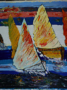 Curator Prints - Regatta  Print by Alik Vetrof