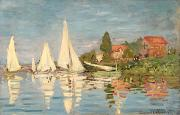 Sails Prints - Regatta at Argenteuil Print by Claude Monet